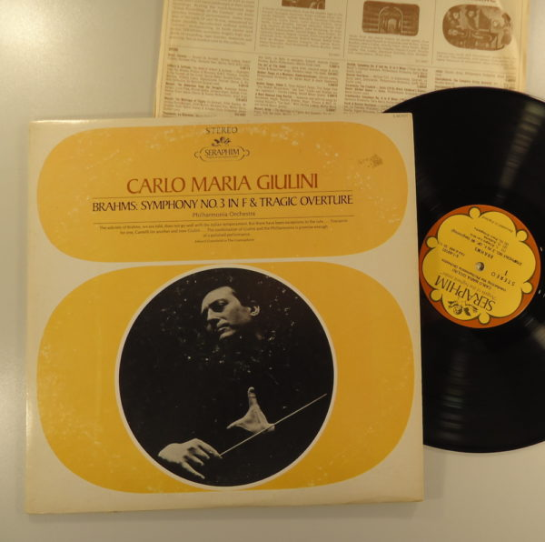 Brahms - Carlo Maria Giulini – Symphony No. 3 In F & Tragic Overture