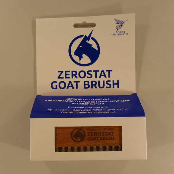Щетка для чистки пластинок Analog Renaissance ZeroStat Goat (из козьей шерсти)